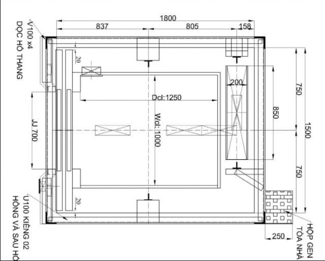 Thông số kỹ thuật của thang máy tải hàng