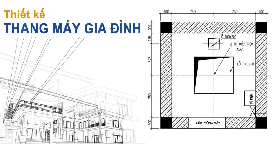 Thông số kỹ thuật thiết kế thang máy 5 tầng
