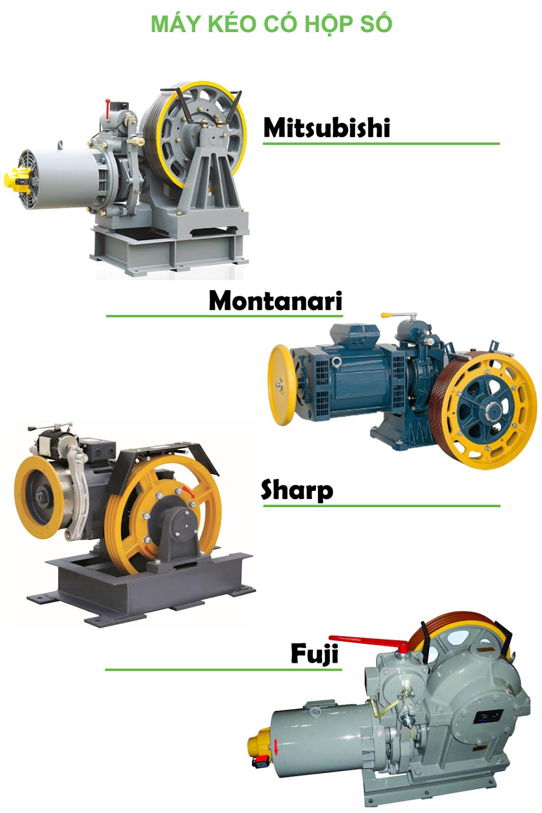 Một số loại động cơ thang máy